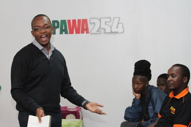 Mark Kaigwa speaking at a past PAWA254 workshop.