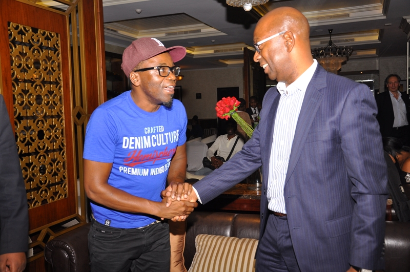 Renowned Jazz Artist Jimmy Dludlu and Bob Collymore-Safaricom CEO