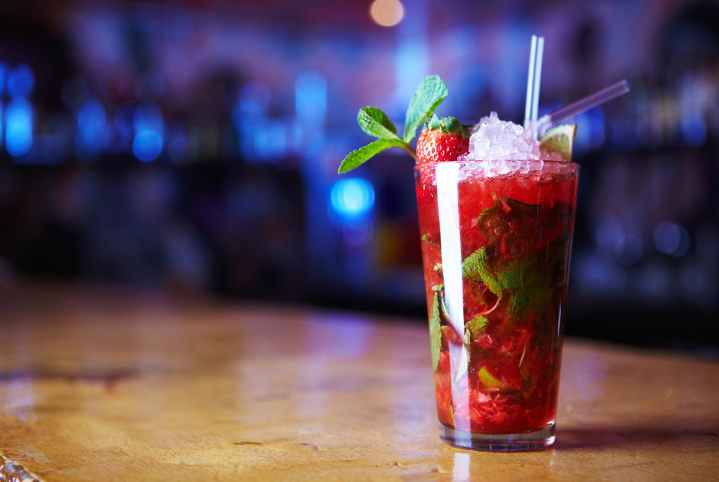 Rose-scented-strawberry-cocktails
