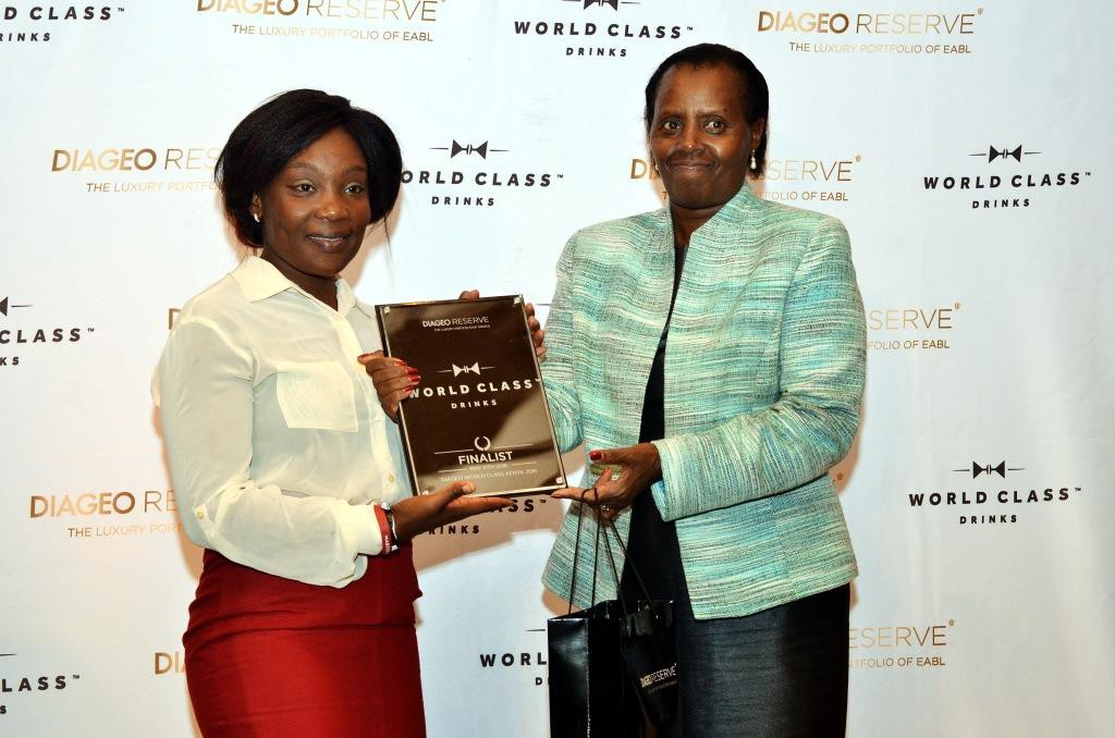 Redempta Muluka  Of Mombasa was one of the two female finalists of the WORLD CLASS Kenya Bar Tending competition.