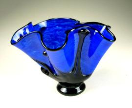 Cobalt Flower Vase