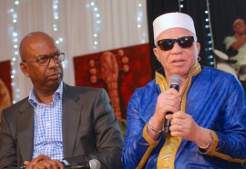 Safaricom CEO Bob Collymore and Salif Keita