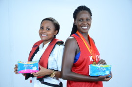 Always Brand Ambassdors Kenya Basketball captain Silalei Owour and Kenya First Marine Pilot Elizabeth Marami 3