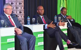 L-R, John Tombleson (Chief Financial Officer), Bob Collymore (CEO – Safa…