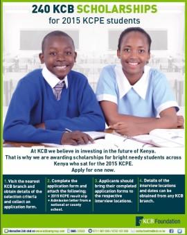 KCB Scholarships 2016