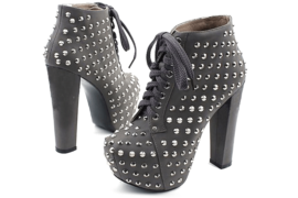 KPOP-Fashion-Black-Lace-up-Studded-Shoe-Boots-with-Pointed-High-Heeled-style