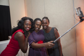 From Left, Velma Akinyi, Christine Ndero and Grace Njeri