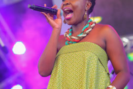 Matilda the vocalist from Mwai and the Truth band.