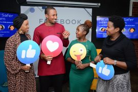 L-R, Internet Safety Influencer Janet Mbugua, Online Safety Expert Dr. Bright Gameli, Director – Watoto Watch Network, Lilian Kariuki and Head of Public Policy EA Facebook Mercy Ndegwa[2]